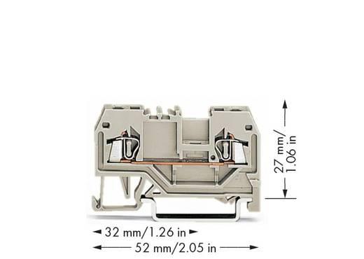 Durchgangsklemme 4 mm Zugfeder Belegung: L Grau WAGO 279-992 100 St.