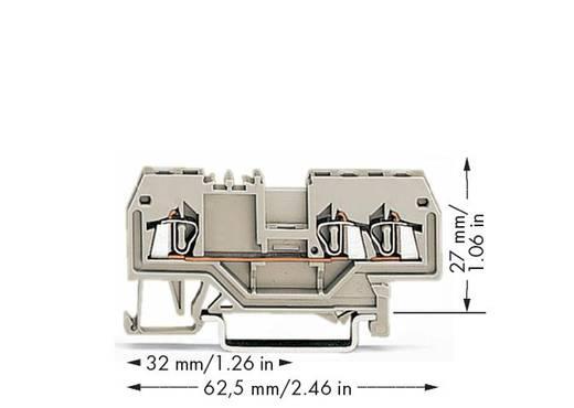 Durchgangsklemme 4 mm Zugfeder Belegung: L Grau WAGO 279-993 100 St.