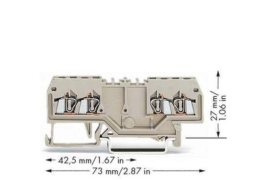 Durchgangsklemme 4 mm Zugfeder Belegung: L Grau WAGO 279-995 100 St.