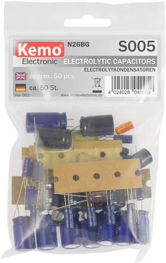 Elektrolyt-Kondensator Sortiment Kemo S005 50 Teile