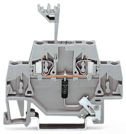 Borne d'extrémité WAGO 280-502/281-603 5 mm ressort de traction Affectation des prises: L gris 50 pc(s)