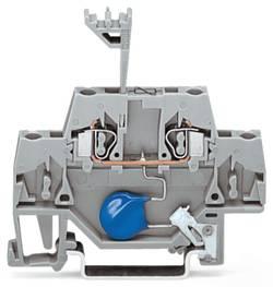 Borne d'extrémité WAGO 280-502/281-610 5 mm ressort de traction Affectation des prises: L gris 50 pc(s)