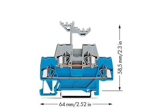 Doppelstock-Durchgangsklemme 5 mm Zugfeder Blau, Grau WAGO 280-523 50 St.