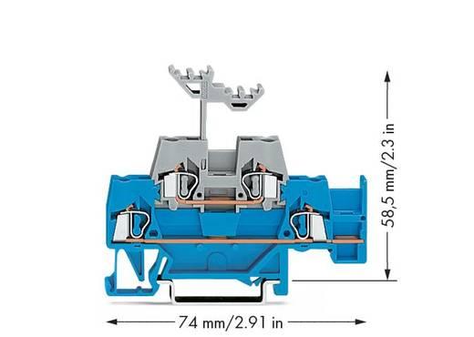 Doppelstock-Durchgangsklemme 5 mm Zugfeder Blau, Grau WAGO 280-524 50 St.