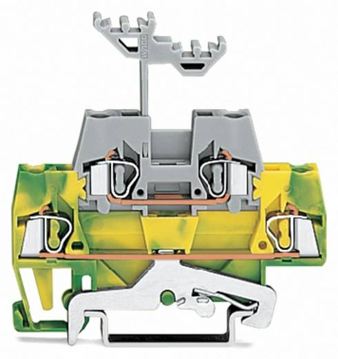 WAGO 280-527 Doppelstock-Durchgangsklemme 5 mm Zugfeder Grün-Gelb, Grau 50 St.