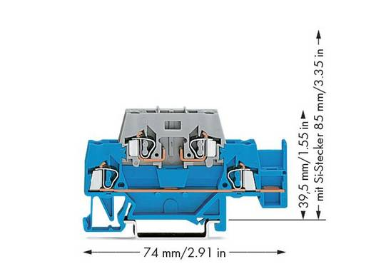 Doppelstock-Durchgangsklemme 5 mm Zugfeder Blau, Grau WAGO 280-532 50 St.