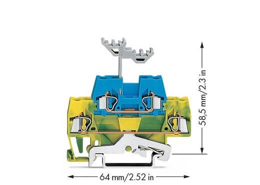 Doppelstock-Durchgangsklemme 5 mm Zugfeder Grau, Blau WAGO 280-534 50 St.