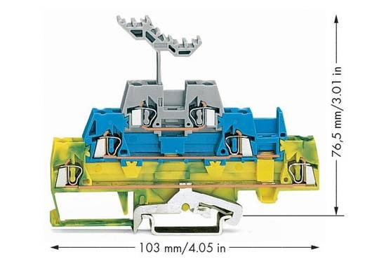 Dreistock-Durchgangsklemme 5 mm Zugfeder Grün-Gelb, Blau, Grau WAGO 280-547 40 St.