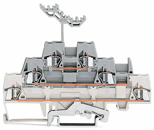 Dreistock-Durchgangsklemme 5 mm Zugfeder Weiß, Grau WAGO 280-548 40 St.