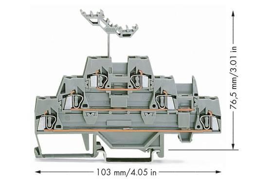 Dreistock-Durchgangsklemme 5 mm Zugfeder Belegung: L Grau WAGO 280-549 40 St.