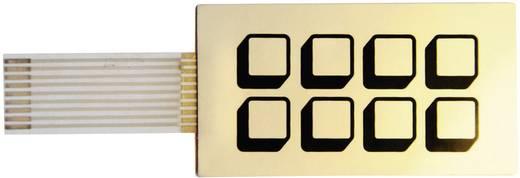 Folientastatur selbstklebend Tastenfeld Matrix 2 x 4 FT08 1 St.