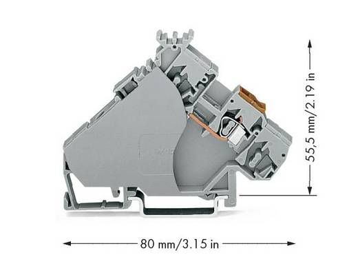 Aktorenklemme 6 mm Zugfeder Belegung: L Grau WAGO 280-556 20 St.