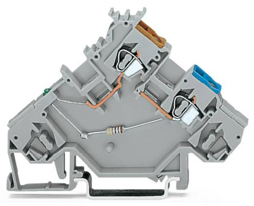 Initiatorenklemme 5 mm Zugfeder Belegung: L Grau WAGO 280-564/281-483 10 St.