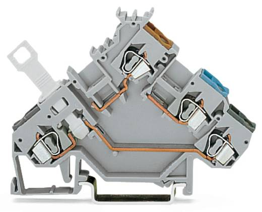 Trennklemme 5 mm Zugfeder Belegung: L Grau WAGO 280-563 50 St.