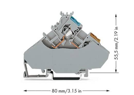 WAGO 280-567 Initiatorenklemme 6 mm Zugfeder Belegung: L Grau 20 St.