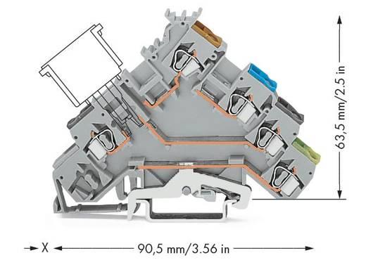 Initiatorenklemme 5 mm Zugfeder Belegung: L Grau WAGO 280-571 50 St.