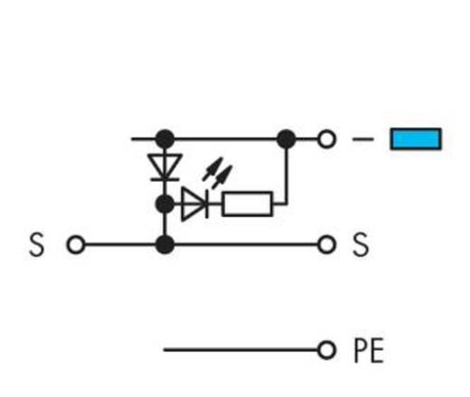 LED-Klemme 5 mm Zugfeder Belegung: L Grau WAGO 280-572/281-420 50 St.
