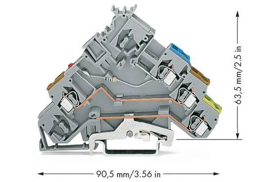 LED-Klemme 5 mm Zugfeder Belegung: L Grau WAGO 280-572/281-434 50 St.