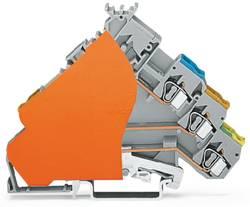 Borne pour actionneurs WAGO 280-575/280-323 6 mm ressort de traction Affectation des prises: L gris 50 pc(s)