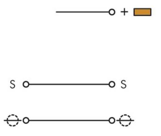 Aktorenklemme 5 mm Zugfeder Belegung: L Grau WAGO 280-583 50 St.