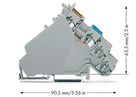 Initiatorenklemme 6 mm Zugfeder Belegung: L Grau WAGO 280-587 20 St.