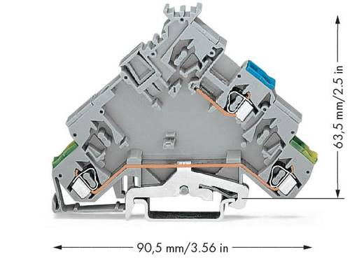 Aktorenklemme 5 mm Zugfeder Belegung: L Grau WAGO 280-593 10 St.