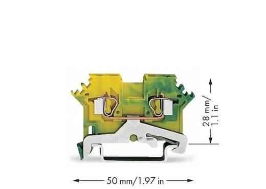 Schutzleiterklemme 5 mm Zugfeder Belegung: PE Grün-Gelb WAGO 280-607/999-950 100 St.