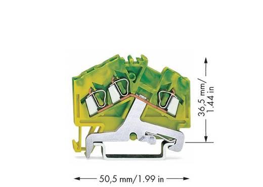 Schutzleiterklemme 5 mm Zugfeder Belegung: PE Grün-Gelb WAGO 280-637 100 St.