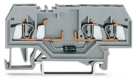 Diodenklemme 5 mm Zugfeder Belegung: L Grau WAGO 280-673/281-410 100 St.