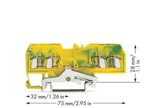 Schutzleiterklemme 5 mm Zugfeder Belegung: PE Grün-Gelb WAGO 280-677/999-950 100 St.