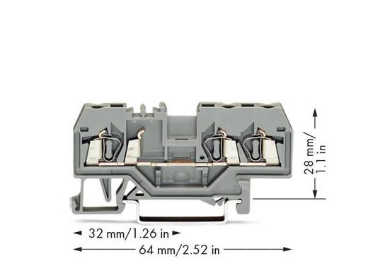 Durchgangsklemme 5 mm Zugfeder Belegung: L Grau WAGO 280-681 100 St.