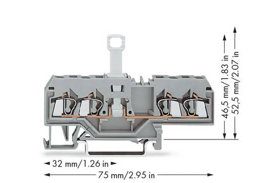 Trennklemme 5 mm Zugfeder Belegung: L Grau WAGO 280-685 50 St.
