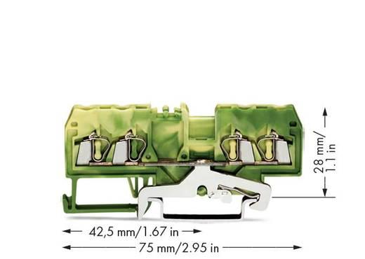 Schutzleiterklemme 5 mm Zugfeder Belegung: PE Grün-Gelb WAGO 280-837/999-950 100 St.