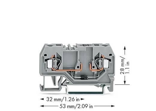 Diodenklemme 5 mm Zugfeder Belegung: L Grau WAGO 280-915/281-410 100 St.