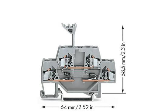 Doppelstock-Diodenklemme 5 mm Zugfeder Belegung: L Grau WAGO 280-941/281-489 50 St.