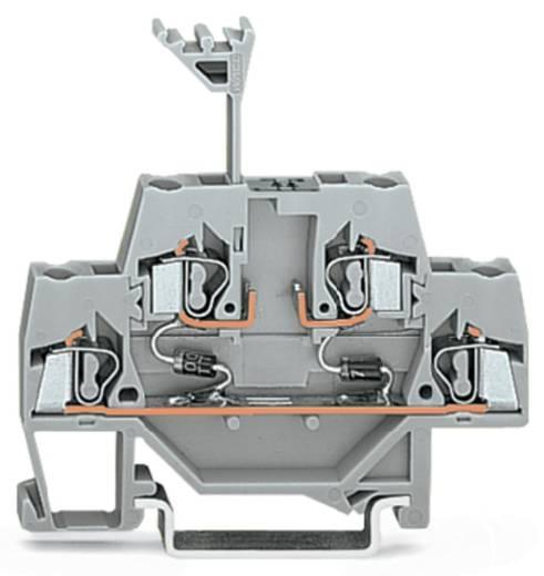 Doppelstock-Diodenklemme 5 mm Zugfeder Belegung: L Grau WAGO 280-942/281-488 50 St.