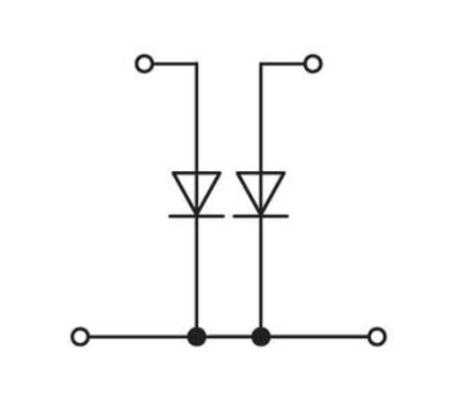 Doppelstock-Diodenklemme 6 mm Zugfeder Belegung: L Grau WAGO 281-636/281-488 50 St.
