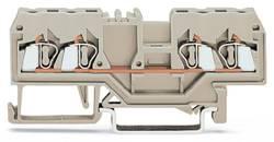 Bloc de jonction traversant WAGO 280-994 5 mm ressort de traction Affectation des prises: L gris 100 pc(s)