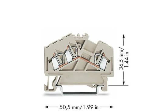 Durchgangsklemme 5 mm Zugfeder Belegung: L Grau WAGO 280-998 100 St.