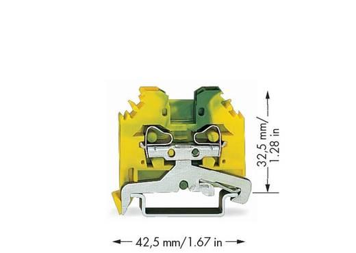 Schutzleiterklemme 6 mm Zugfeder Belegung: PE Grün-Gelb WAGO 281-107 100 St.