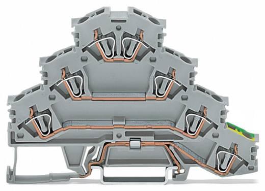 WAGO 281-530 Vierstock-Durchgangsklemme 6 mm Zugfeder Belegung: L Grau 50 St.