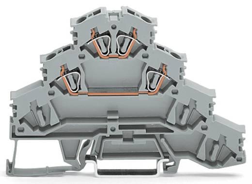 Vierstock-Durchgangsklemme 6 mm Zugfeder Belegung: L Grau WAGO 281-531 50 St.