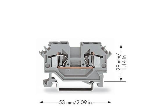 Durchgangsklemme 6 mm Zugfeder Belegung: L Grau WAGO 281-601 50 St.
