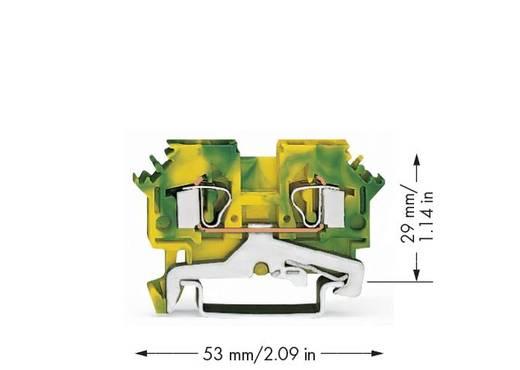 Schutzleiterklemme 6 mm Zugfeder Belegung: PE Grün-Gelb WAGO 281-607/999-950 50 St.