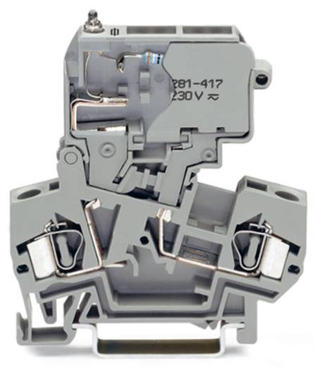 Sicherungsklemme 8 mm Zugfeder Belegung: L Grau WAGO 281-622/281-417 50 St.