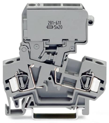 Sicherungsklemme 8 mm Zugfeder Belegung: L Grau WAGO 281-622 50 St.