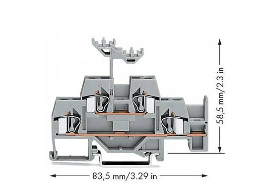 Doppelstock-Durchgangsklemme 6 mm Zugfeder Belegung: L Grau WAGO 281-620 50 St.