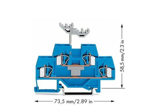 Doppelstock-Durchgangsklemme 6 mm Zugfeder Belegung: N Blau WAGO 281-629 50 St.