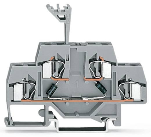 Doppelstock-Diodenklemme 6 mm Zugfeder Belegung: L Grau WAGO 281-636/281-487 50 St.