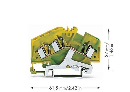 Schutzleiterklemme 6 mm Zugfeder Belegung: PE Grün-Gelb WAGO 281-637 100 St.